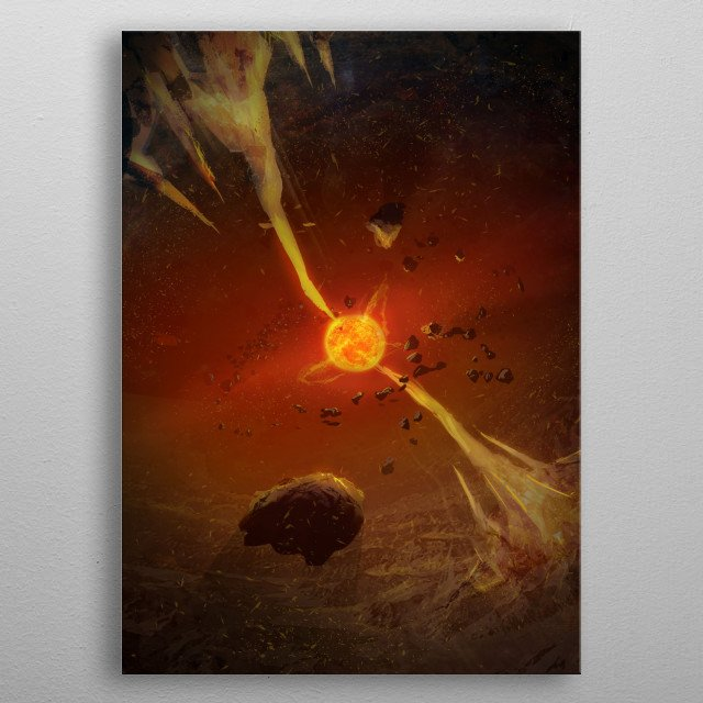 The Xaros Reckoning is the ninth novel in the Ember War Saga. The battle against the alien overlords comes to its epic conclusion! metal poster