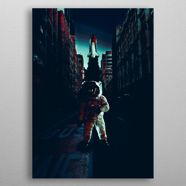 Fascinating metal poster designed by VK Art. Displate has a unique signature and hologram on the back to add authenticity to each design. metal poster