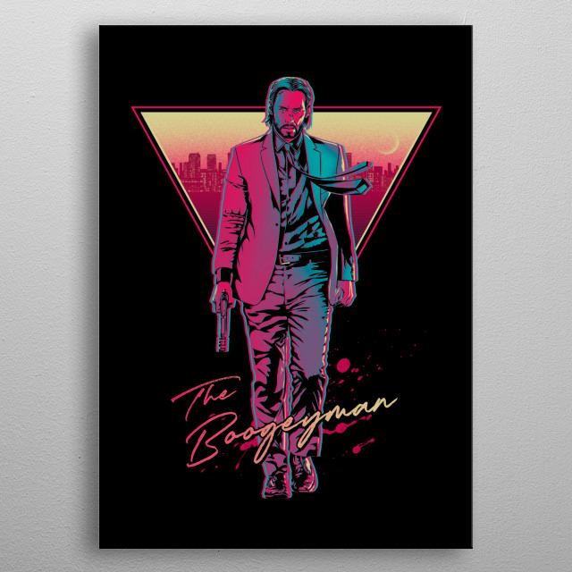 For John Wick fans :) metal poster