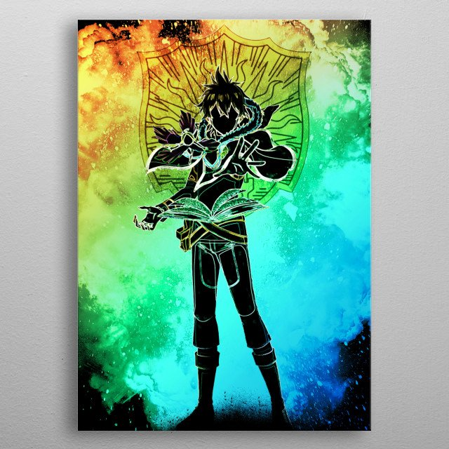 Black Silhouette of the MealSaving Prince  metal poster