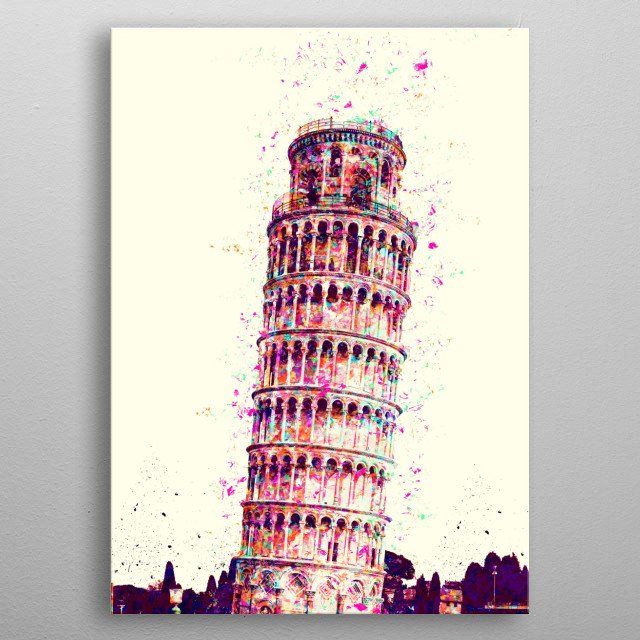 One of the most famous statues in the world, located in Italy metal poster