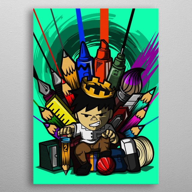 i'm pretty sure that you had a classmate that has awesome talent when it comes to art. can't deny that every class has an artistic student. metal poster
