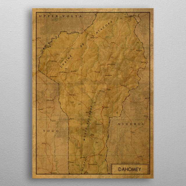 Dahomey Benin Map 1966 Maps Poster Print | metal posters ... on kingdom of scotland map, lesotho map, kingdom of zimbabwe map, confederate states of america map, iran map, pingelap map, fezzan map, new france map, bangladesh map, haute-volta map, africa map, british america map, benin map, world map, guadeloupe map, the ivory coast map, kingdom of kongo map, french colonial empire map, rio de oro map,