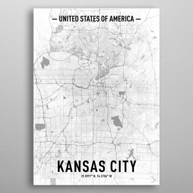 Kansas City by Cornel Vlad | metal posters - Displate on united states map flint, united states map brooklyn, united states map houston, united states map albany, united states map dallas, united states map columbia, united states map buffalo, united states map santa fe, united states map mlb teams, united states map great salt lake, united states map charlotte, united states map calgary, united states map manhattan, united states map texarkana, united states map austin, united states map chesapeake, united states map fargo, united states map cheyenne, united states map jackson ms, united states map sioux falls,
