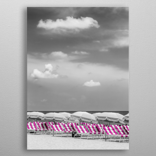 Beautiful beach scene to relax. Pure summer holiday atmosphere! metal poster