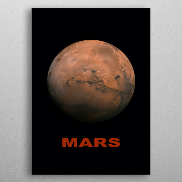 The planet Mars metal poster