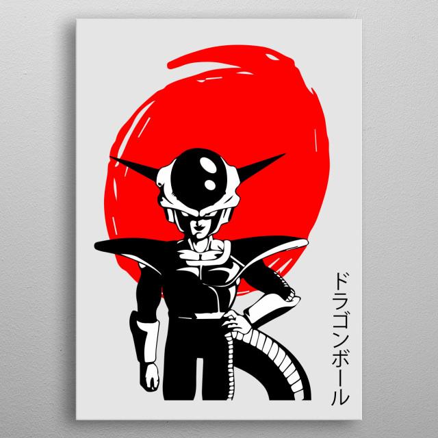 DragonBall Z Frieza Japan Red Displate Prints. See more anime displate like this! Go to displate profile Maricris Mabingnay! metal poster