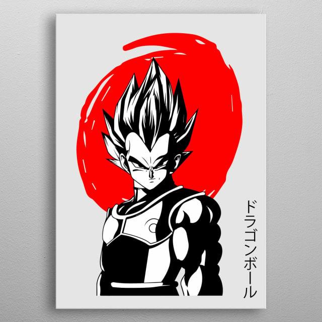 DragonBall Z Vegeta Japan Red Displate Prints. See more anime displate like this! Go to displate profile Maricris Mabingnay! metal poster