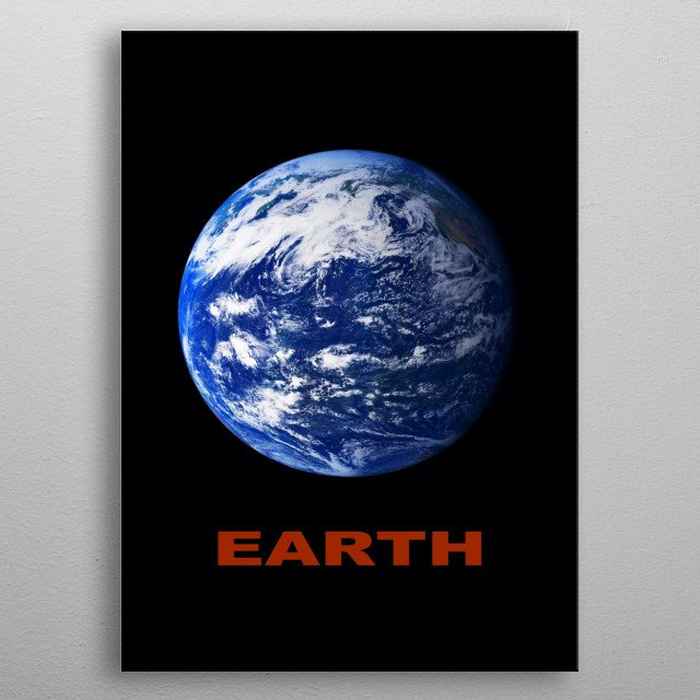 The planet Earth (Pacific view) metal poster