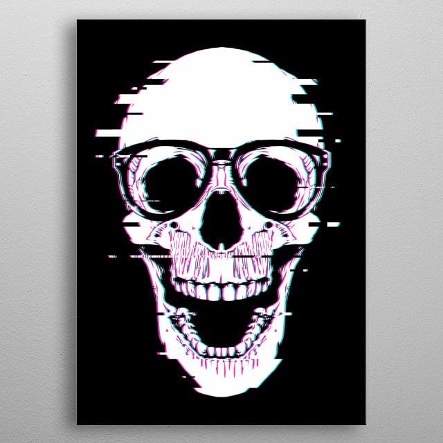 Retro skull metal poster