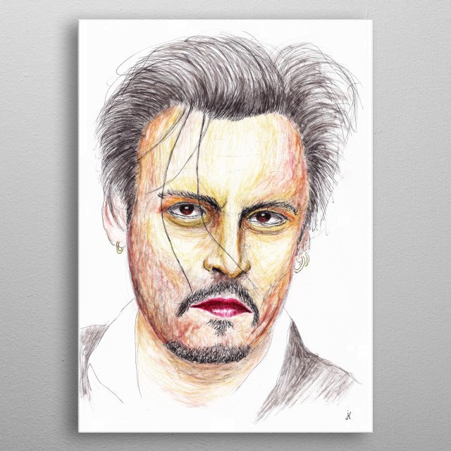 John Christopher Depp II is an American actor, film director, musician, screenwriter and producer. metal poster