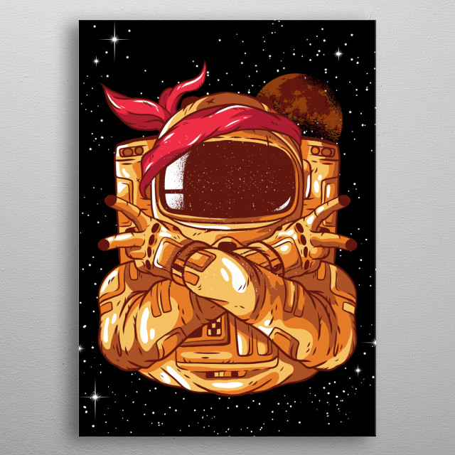 This great universe design is the perfect gift for every rocket enthusiast and science fiction lover. Escape everyday life. metal poster