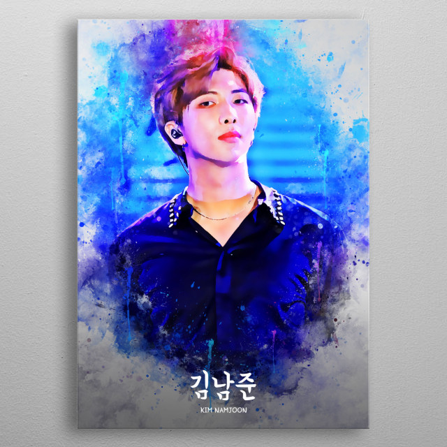 Kim Nam Joon is a South Korean rapper, songwriter, and record producer. He is the leader and a rapper in the South Korean boy group BTS. metal poster
