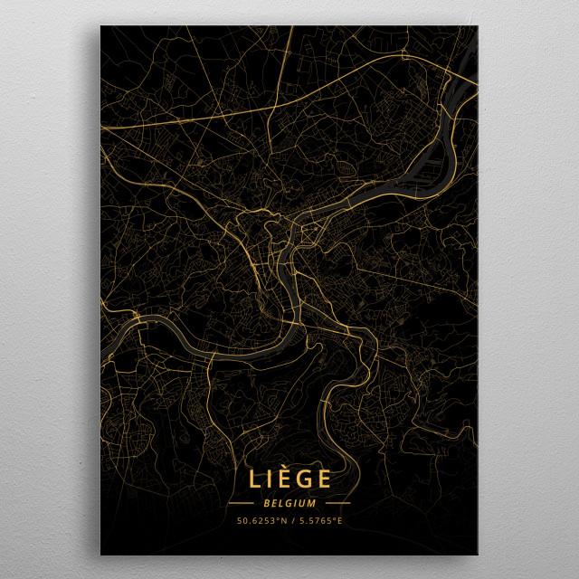 Liege, Belgium metal poster