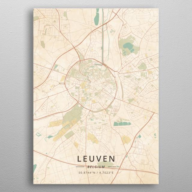 Leuven, Belgium metal poster