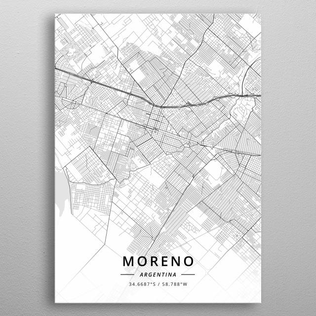 Moreno, Argentina metal poster
