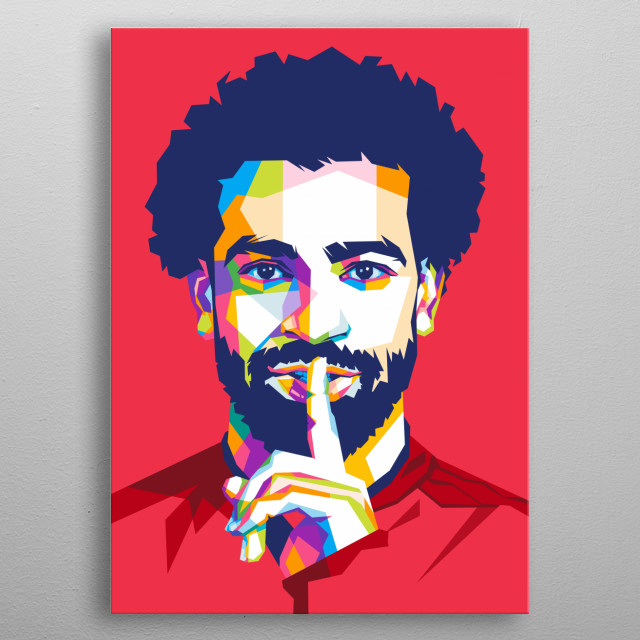 Mohamed Salah Hamed Mahrous Ghaly is an Egyptian professional footballer who plays as a forward for Premier League club Liverpool. metal poster