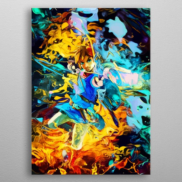 Fascinating metal poster designed by Space Chimpa. Displate has a unique signature and hologram on the back to add authenticity to each design. metal poster