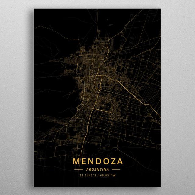 Mendoza, Argentina metal poster