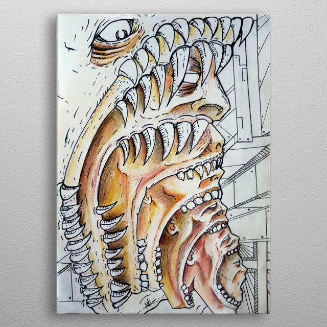 An image of human Subconsious metal poster
