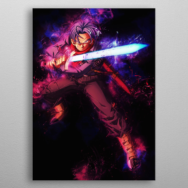 Future Trunks, Sword of Hope Goku ssb Dragonball Super Mastered Ultra Instinct Whis Goku Utra Instinto metal poster