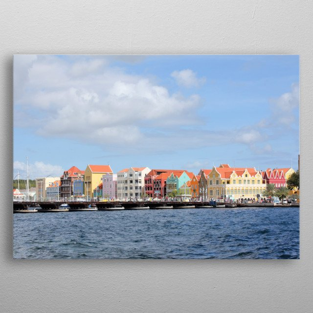 Colorful Houses of Willemstad, Curacao metal poster