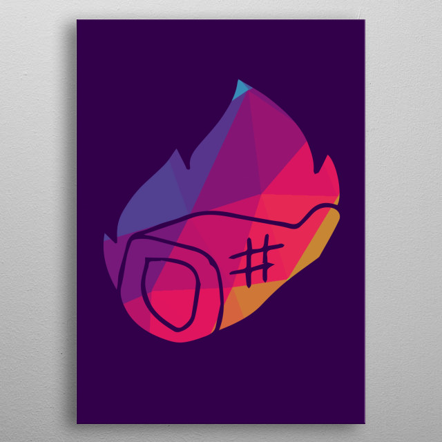 Rainbow Polygon Barbecue Displate Prints. See more cute, gaming and anime displate like this! Go to displate profile Maricris Mabingnay! metal poster
