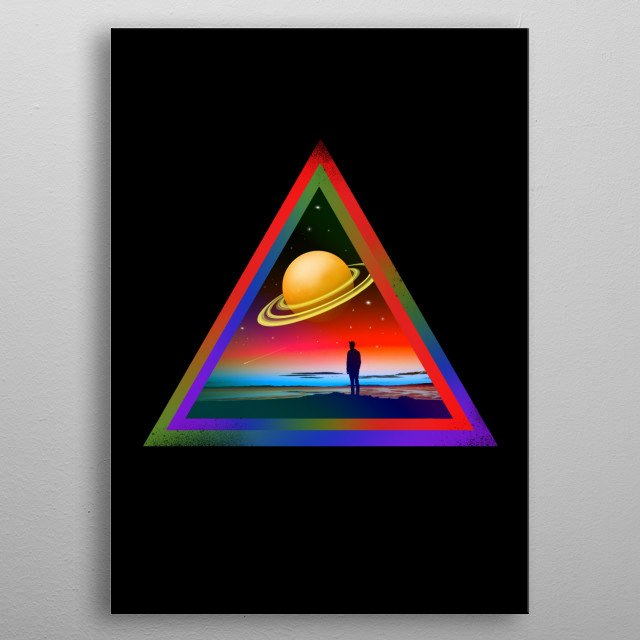 Inspired by the great Pinkfloyd. metal poster