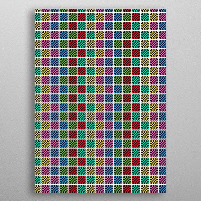 colours, patterns, squares! metal poster