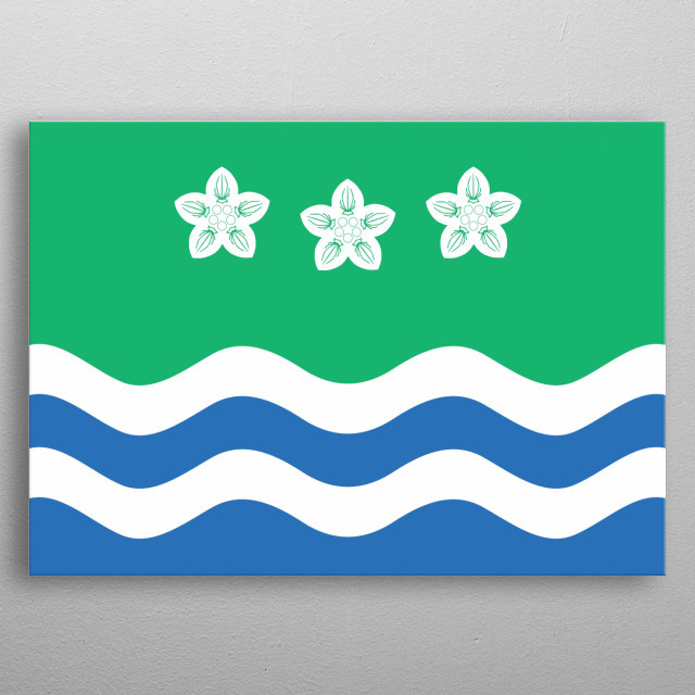The Cumbrian Flag. Show your love this amazing part of England. metal poster