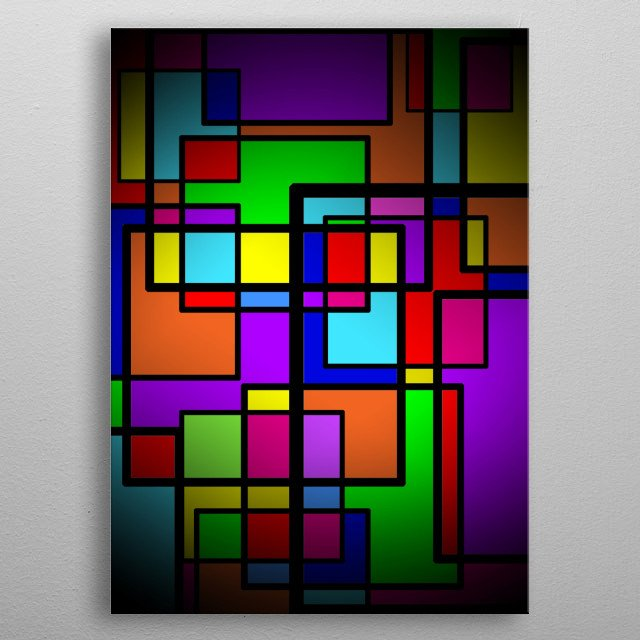Emotions can be define by Shapes and Colors. metal poster