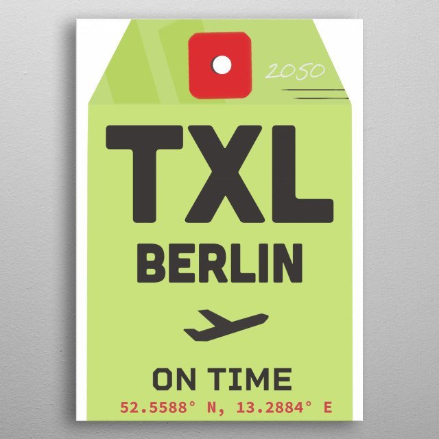 Travel style poster. metal poster