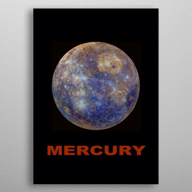 The planet Mercury metal poster