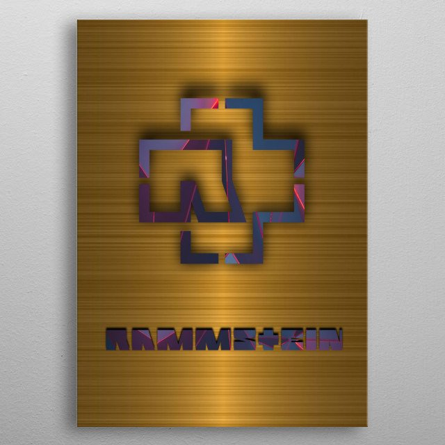 High-quality metal print from amazing Gold Bands collection will bring unique style to your space and will show off your personality. metal poster