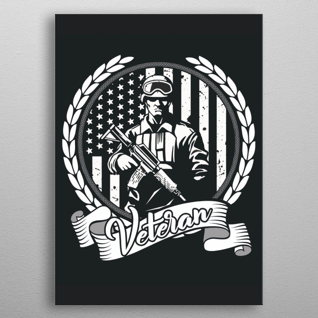 The American Hero. metal poster