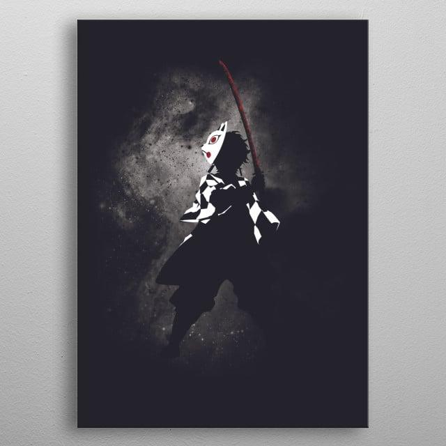 Illustration inspired by Demon Slayer: Kimetsu no Yaiba metal poster