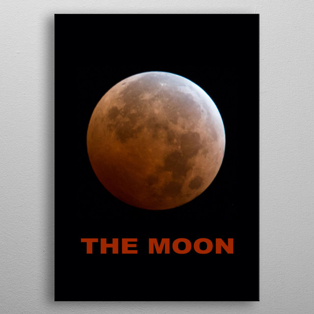 Earth's Moon metal poster