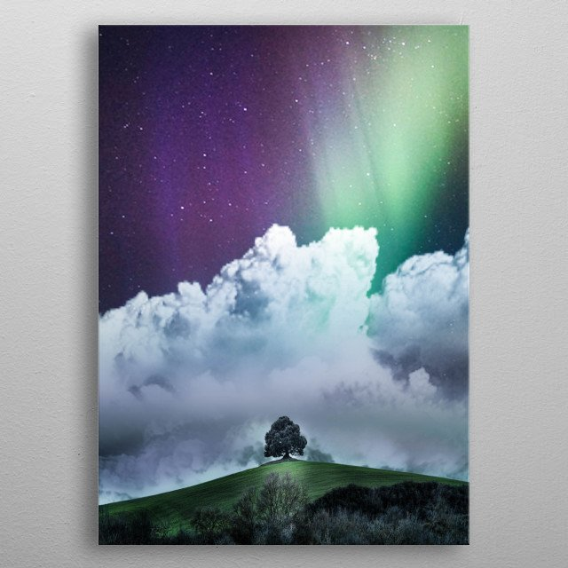 Colored Sky At Night. metal poster