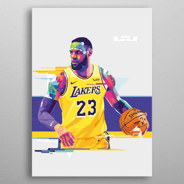 LA Lakers NBA super stars in WPAP style metal poster