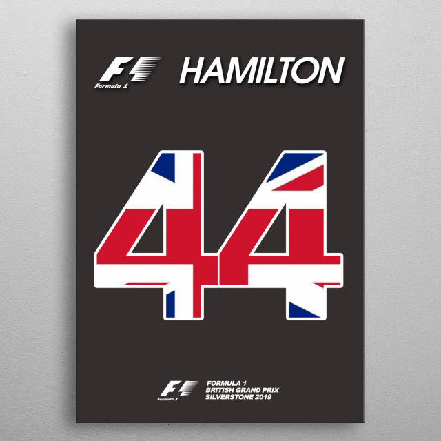 Lewis Hamilton Grid Plate   metal poster