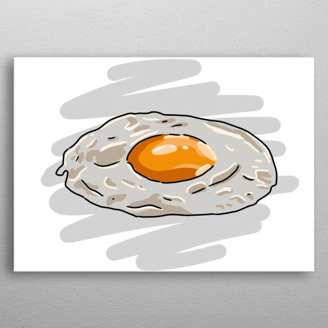 Egg Hand Drawn Design Illustration metal poster