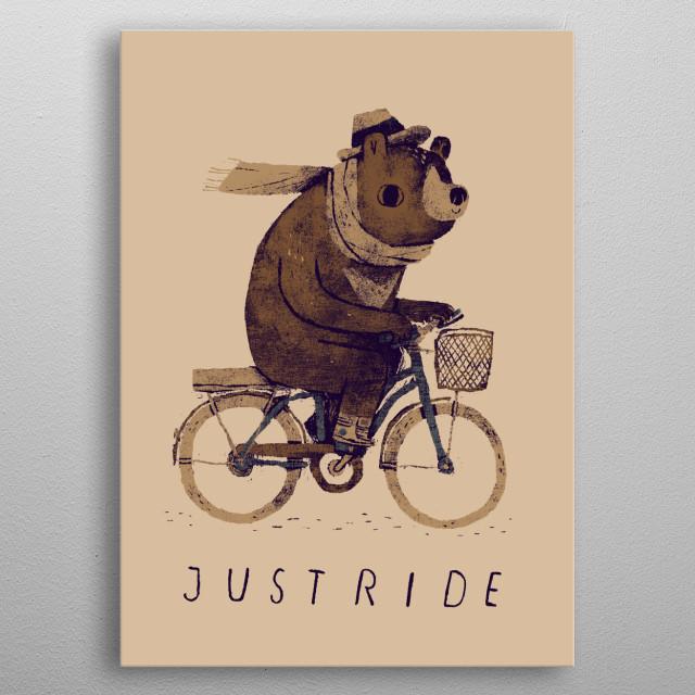 just ride! metal poster