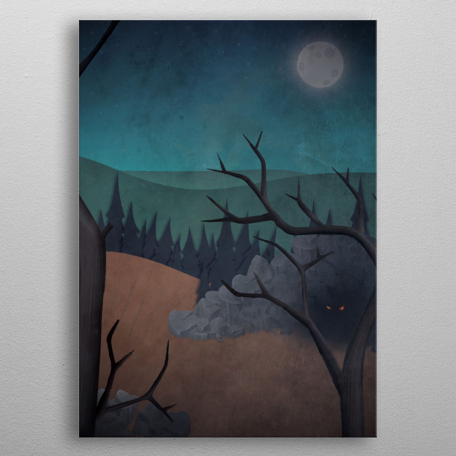 """""""Talk of tree and monsters"""" Part 2. Inspired by an old campfire horror story. metal poster"""
