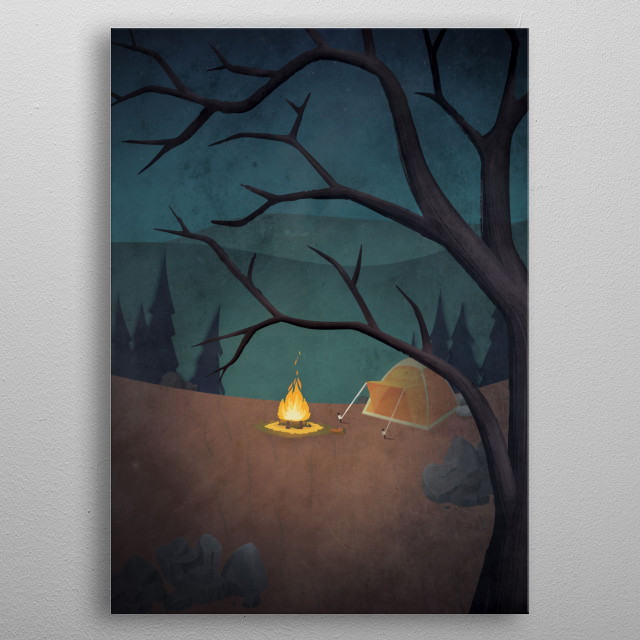"""""""Talk of tree and monsters"""" Part 1. Inspired by an old campfire horror story. metal poster"""
