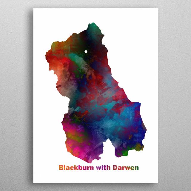 Blackburn with Darwen United Kingdom  metal poster