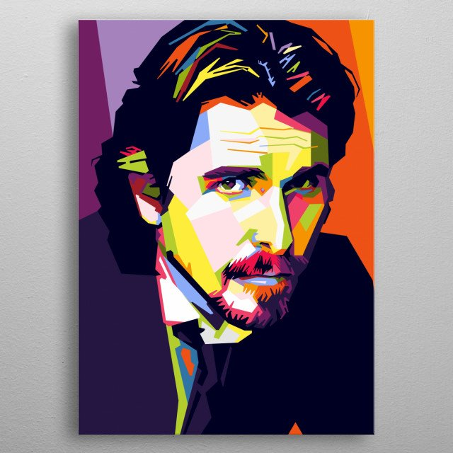 Christian Bale is a Welsh actor who is known for his intense method acting style, often transforming his body drastically for his roles. metal poster