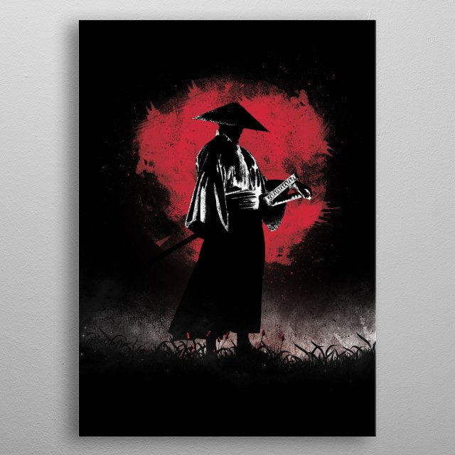 Illustration inspired by the Samurai's story metal poster