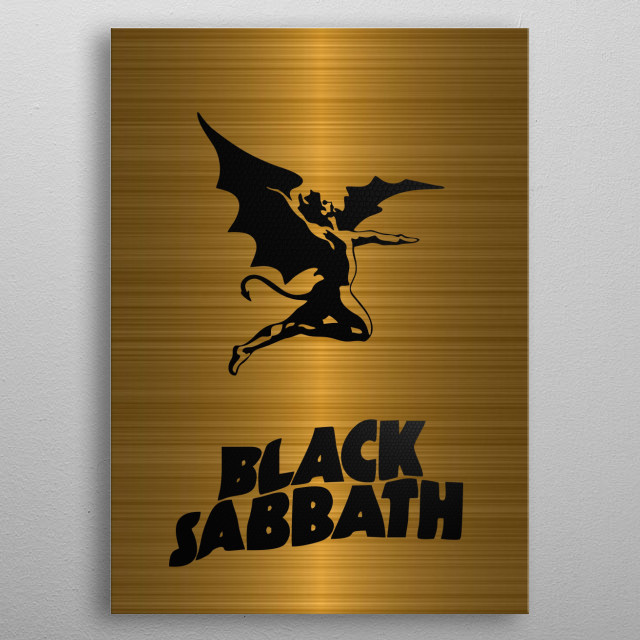 Black Sabbath metal poster