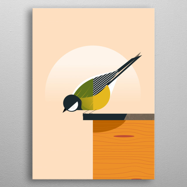 inspired by beautiful of Tit bird metal poster