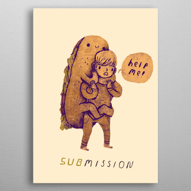 don't get subbed by a sub!   metal poster
